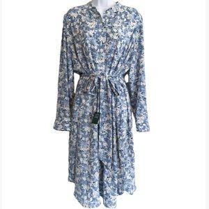 Lauren Ralph Lauren | 16 Blue Floral shirt dress